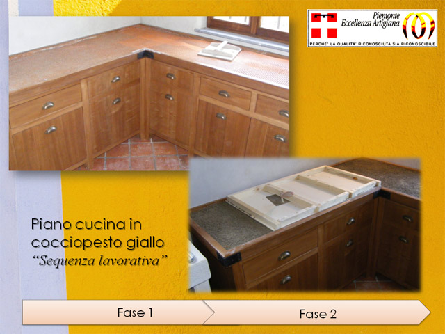 cocciopesto: top (piano) cucina - Top Piano Cucina